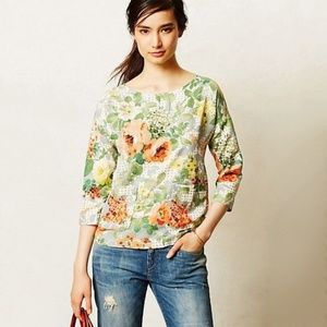 Anthropologie Bloomfield Floral Blouse Small